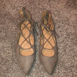 Express Lace Up Flat Size 9